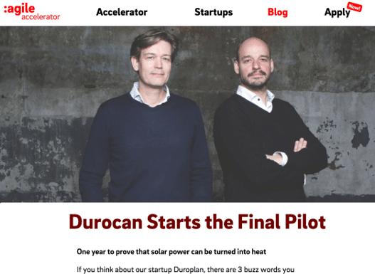 Persbericht 25 September 2017: Pilot Met 'Durocan' Van Start